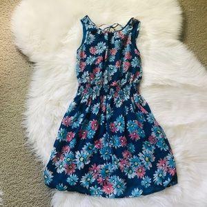 Fun & Flirt Blue floral dress